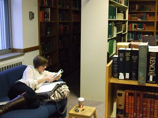 Studying in the Greek & Latin Reading Room, UW-Madison Memorial Library