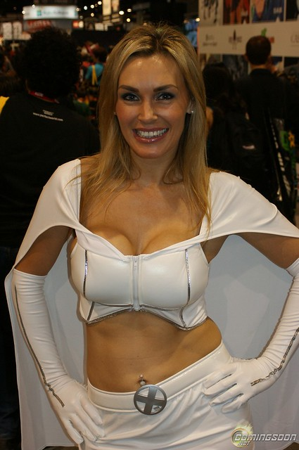 Tanya Tate™ as Emma Frost of the X-men at SDCC 2010