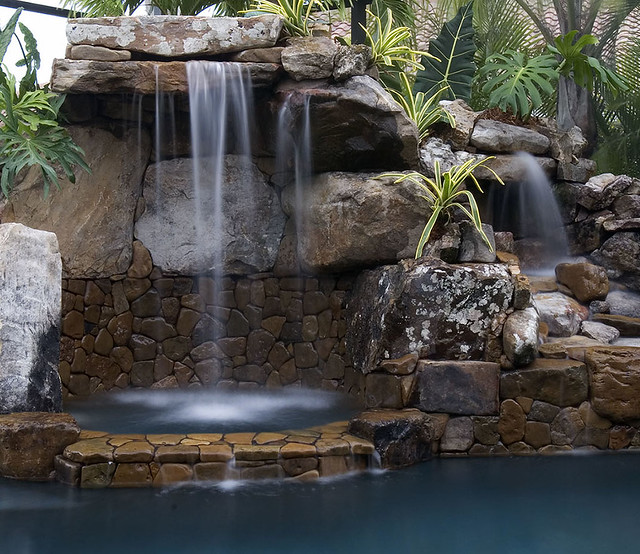 #1 Natural Stone Grotto Waterfall