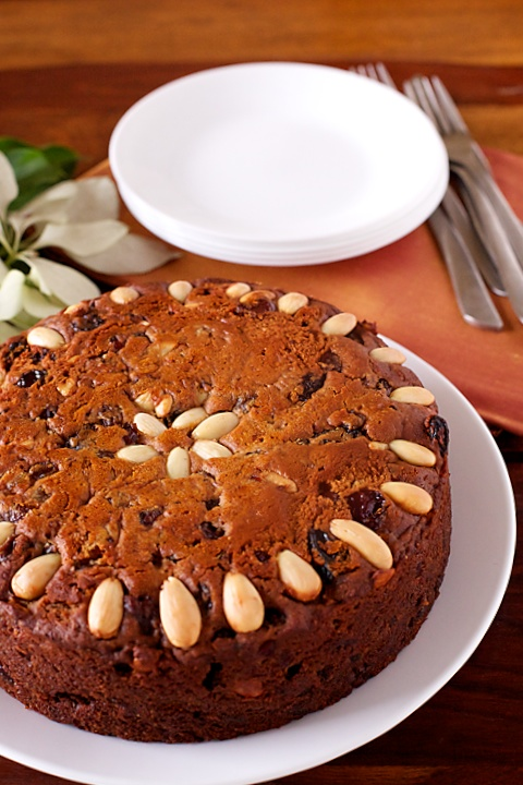 Eggless Fruit Cake   DivineTaste