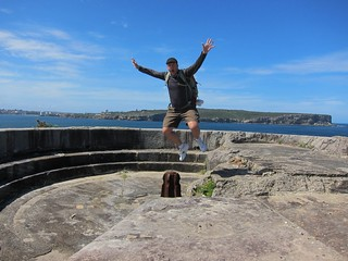 Watsons Bay bunker with Mario jump