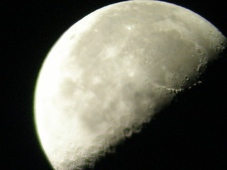 Moon for a Galileoscope view Batatais - Brazil