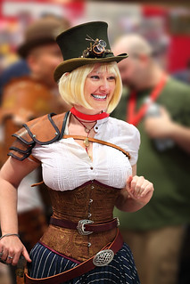 Cute Blonde Steam Punk Lady 2010 Phx Comicon