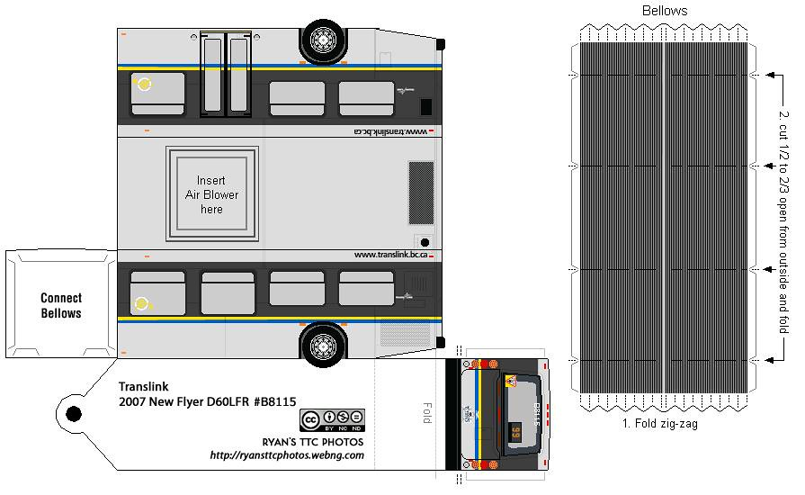 New Flyer D60LFR Translink 99 B Line B8115 Rear