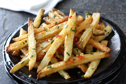 Baked French Fries Recipe With Chile Peppers Cilantro
