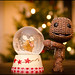 Sackboy enjoys the snow globe