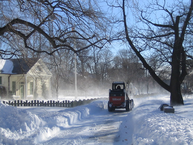 Uli plowing south along the Children's Garden