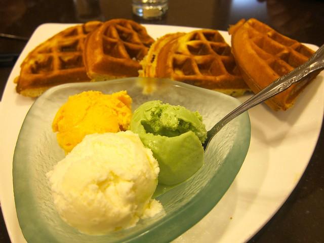 Ice Cream Waffles | Tri-ty Café