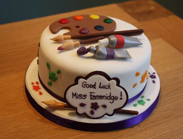 Cake for an art teacher This was a lemon madeira cake (6 ...