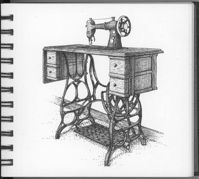 Old Singer Sewing Machine Drawings http://www.flickriver.com/photos/swaimsketching/5322139682/