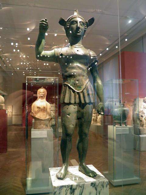 Statuette of a Warrior, Italia Antiqua: Etruscans and Romans (Altes Museum, Berlin)