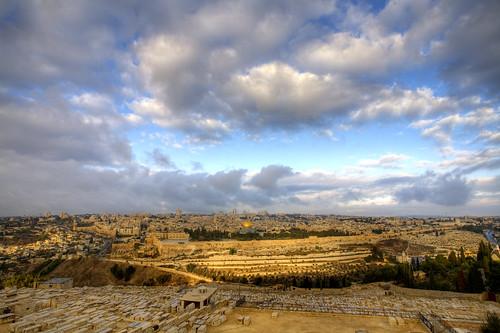 sunrise israel jerusalem domeoftherock hdr templemount mountofolives