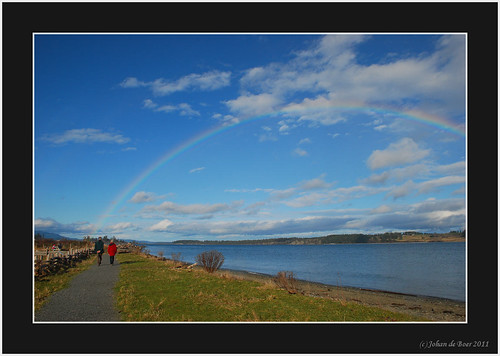 sky water rainbow victoria saanich islandviewbeach