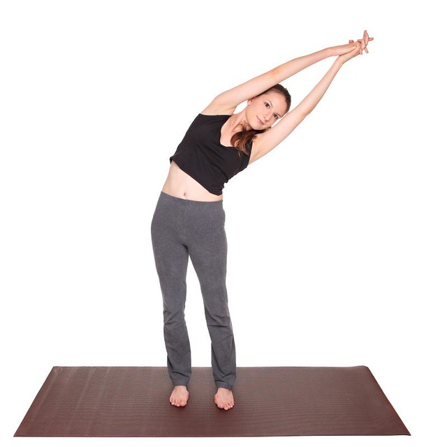 yoga poses - Crescent Moon Pose position (ardha chandrasana)