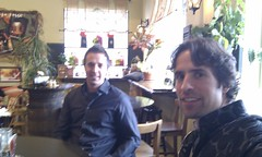 stephanepage posted a photo:	Brainstorming marketing strategies with my brother Martin