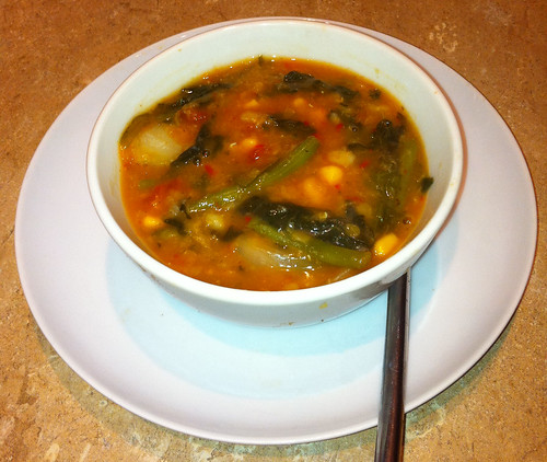 Hearty Vegetable Soup, with Pulses