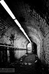 Tunnel Lights - B&W