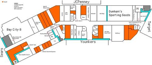 Bay City Mall map