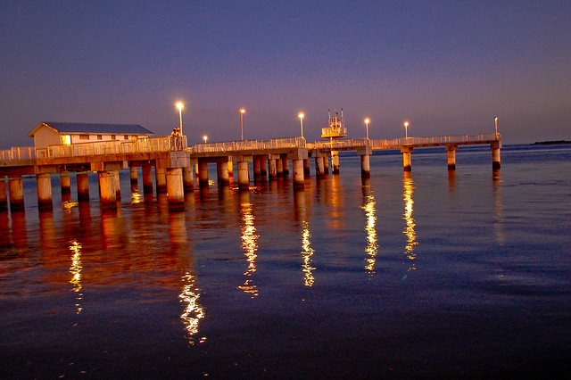 Fishing pier cedar key at nite flickr photo sharing for Cedar key fishing