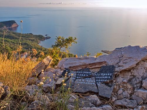 sunset sea sun stefan horizont adriatic montenegro sveti svstefan