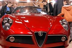 automobile(1.0), alfa romeo(1.0), vehicle(1.0), automotive design(1.0), alfa romeo 8c(1.0), auto show(1.0), alfa romeo 8c competizione(1.0), land vehicle(1.0), luxury vehicle(1.0), supercar(1.0),