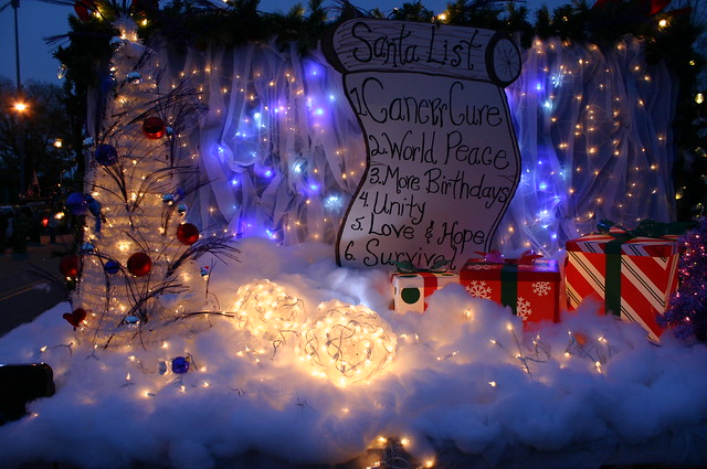 Relay for Life - Christmas Parade - Lit Float Tree (Far) | Flickr ...