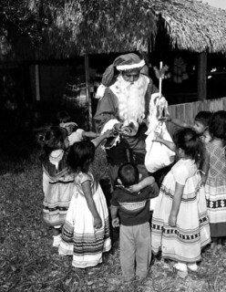 Seminole Chief Billy Osceola as Santa Claus: Hollywood Indian Reservation, Florida