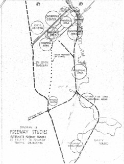 Freeway Studies: Alternate Freeway Routes as Related to Primary Traffic Objectives (1945)