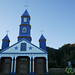 Colorful Little Church in Tenaún - Chiloe Island, Chile