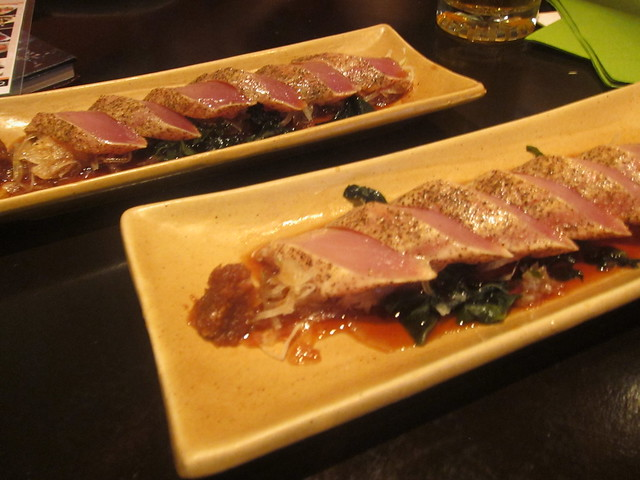 Tuna Garlic Pepper Sashimi | Alpha Global Sushi & Bar