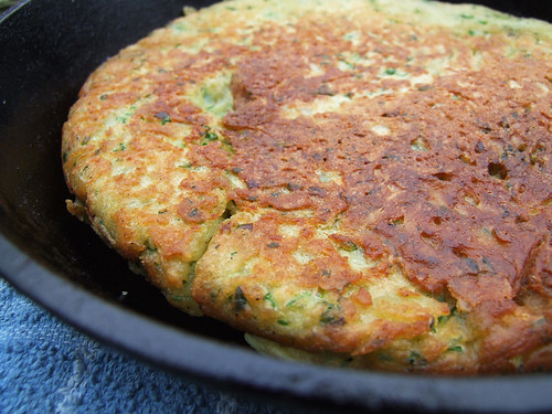 Parsley and spring onion potato cake