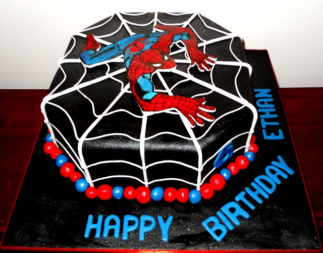 Black spiderman cakes - photo#6
