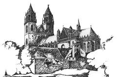 Alt Magdeburg - gezeichnet