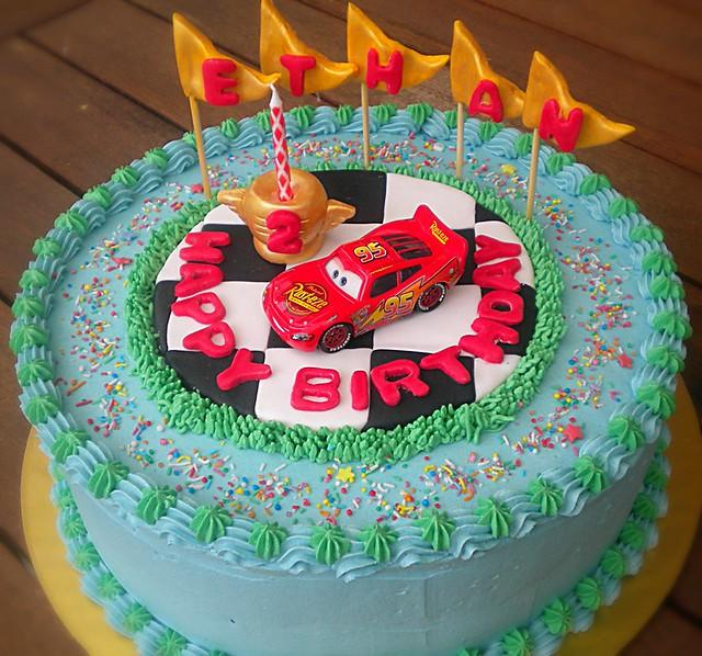 Birthday Photography Lighting: Lighting McQueen Birthday Cake