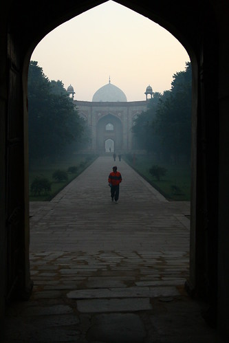 morning sunrise delhi tomb complex 2010 humayuns