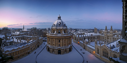 winter sunset panorama architecture evening december treasure stitch dusk antique library culture oxford dome learning classical listed lastlight radcliffesquare palladian websitefeedradcliffecamera