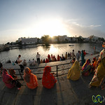 Evening Prayers (Puja) Along the Lake - Udaipur, India