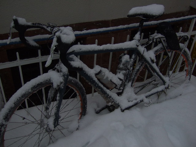 Snowed in bike