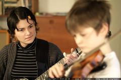 rachel plays banjo, nick plays fiddle