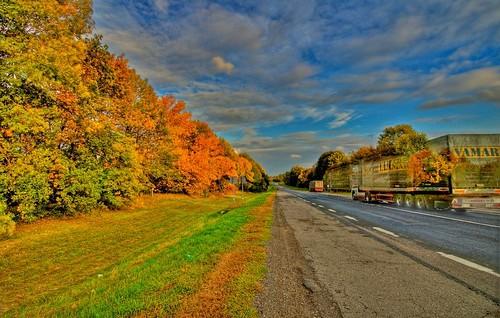 colors yellow fallcolors ukraine trucks roads hdr
