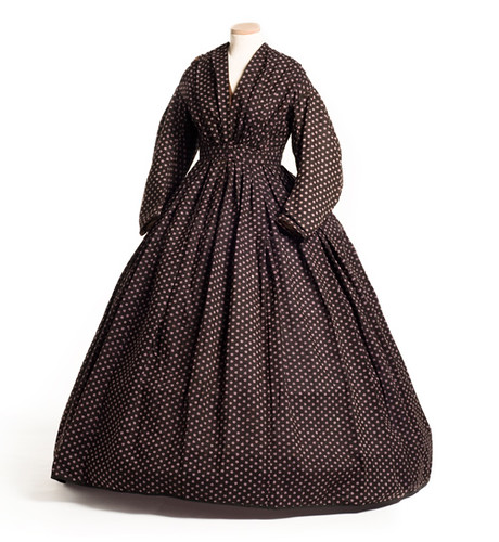 Wool dress, 1860s