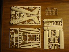 DHC-6 Twin Otter parts ready to build