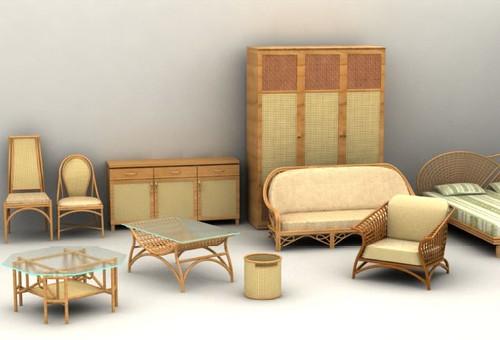 33 modelos 3d muebles rattan para descargar - Muebles de jardin de ratan ...