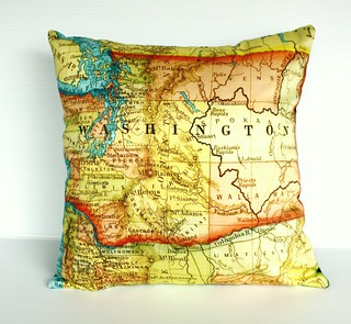 Washington State cushion cover
