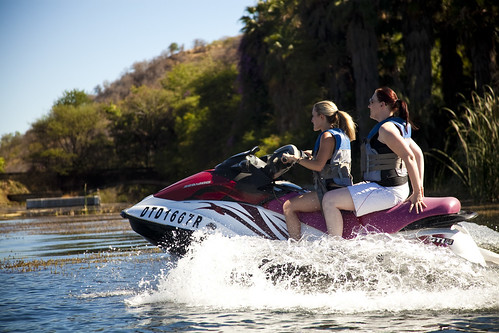 Jet ski at Sun City. Waterworld caters for excitement on the Sun City lake