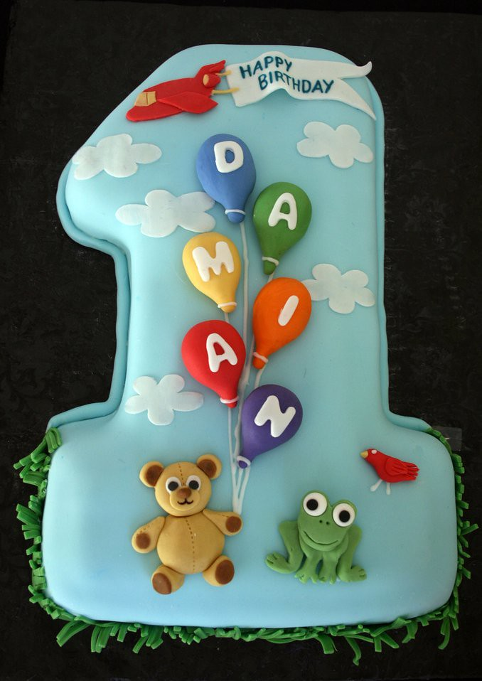 First Birthday Cake For Damian