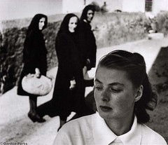 Ingrid Bergman, set of Stromboli 1949, by Gordon Parks