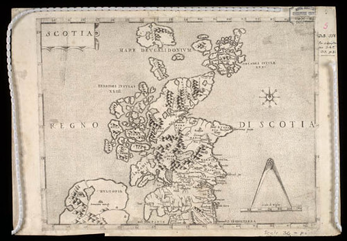 First Map of Scotland 'Scotia: Regno di Scotia' - 1570