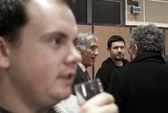 Joël De Rosnay en discution avec Patrick Corsi
