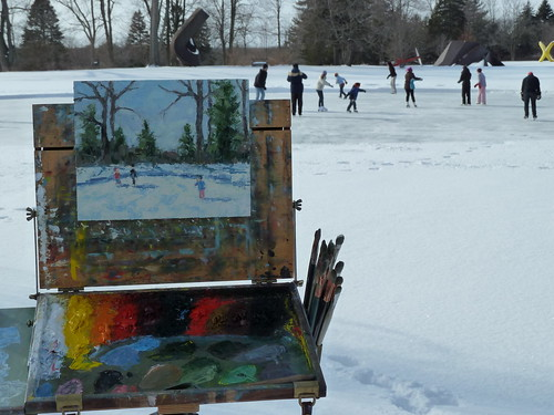 Winter View: Ice Skating at Lynden